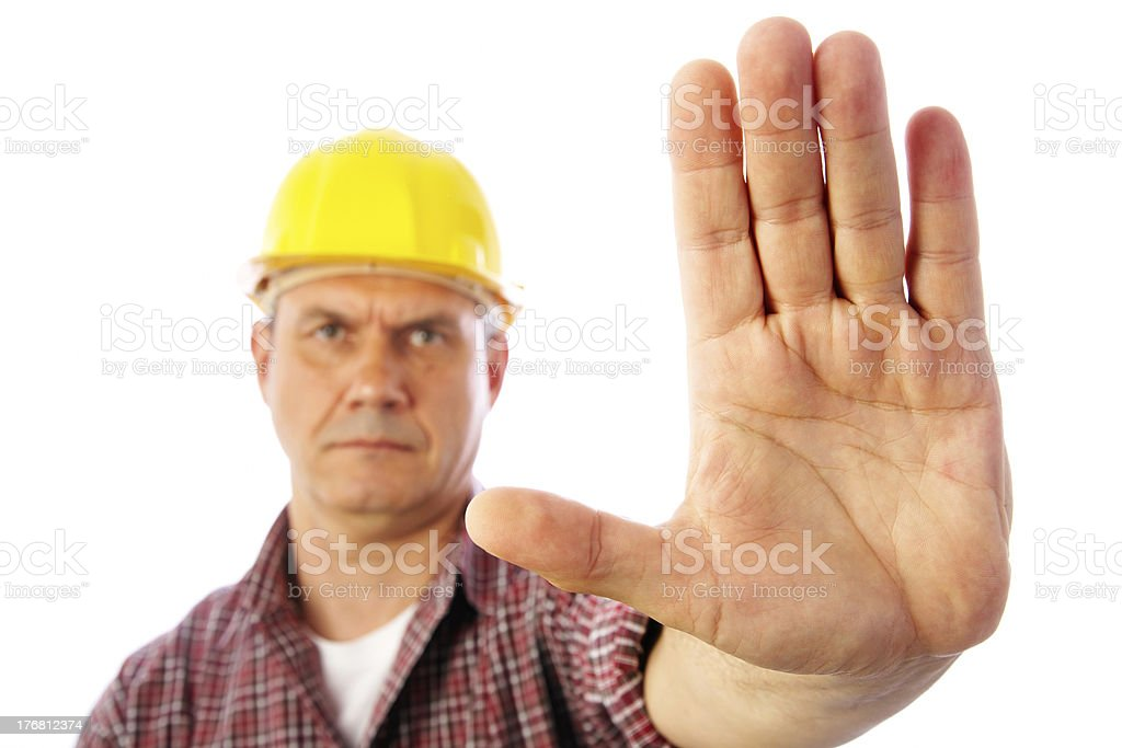 forbidding gesture stop royalty-free stock photo