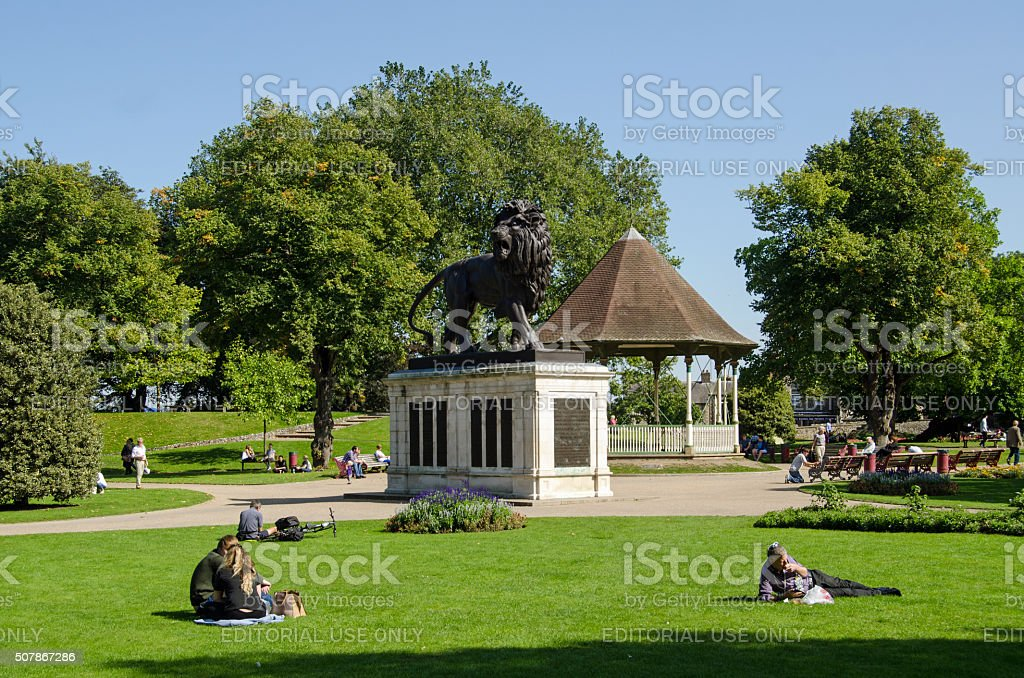 Forbury Gardens, Reading in late summer stock photo