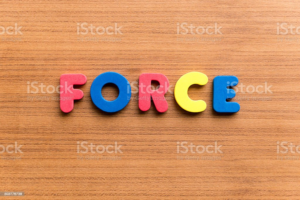 force colorful word stock photo