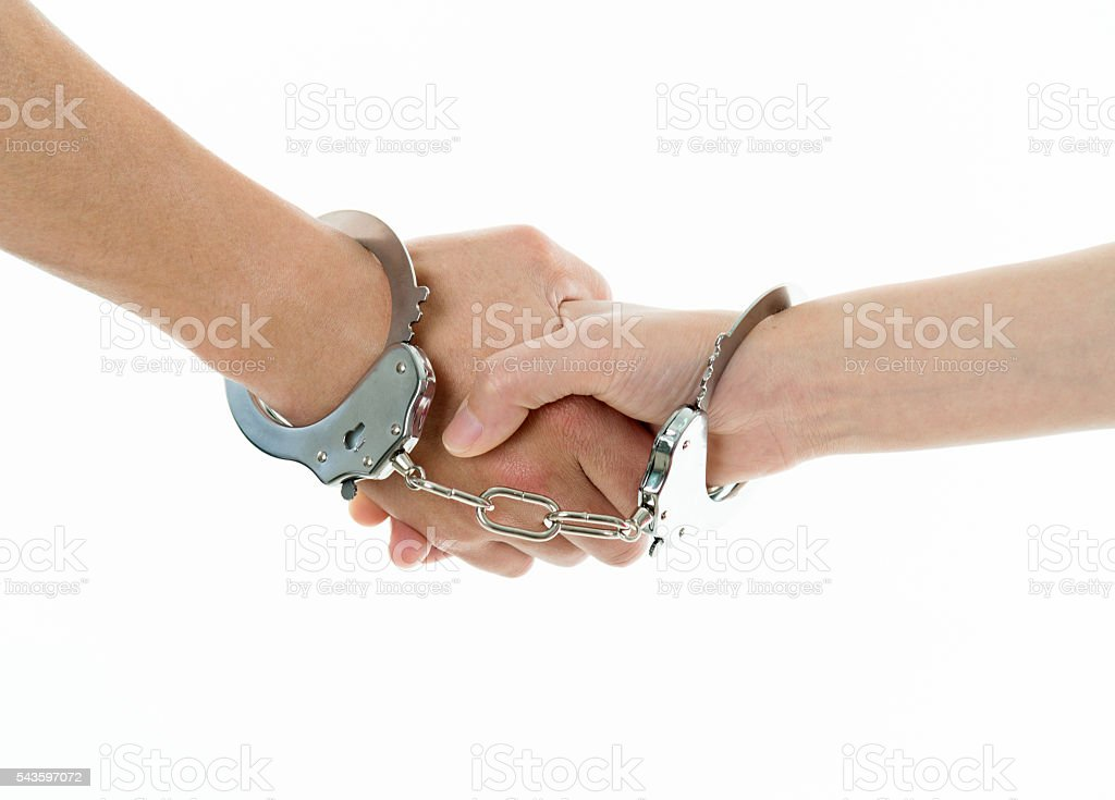 Forced agreement stock photo