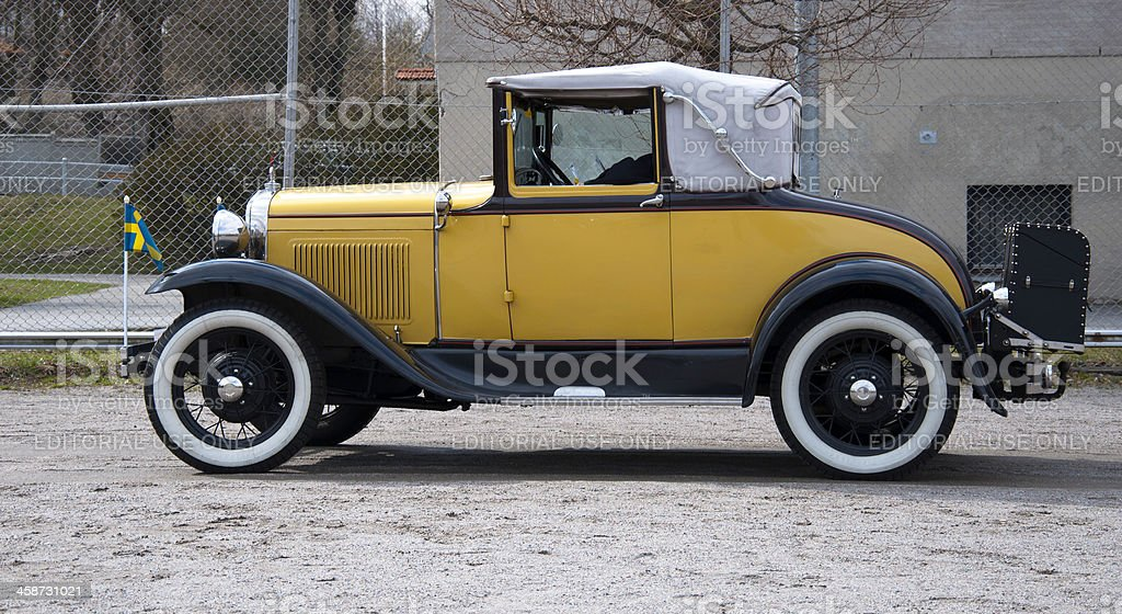 Ford 68B Cabriolet from 1929 royalty-free stock photo