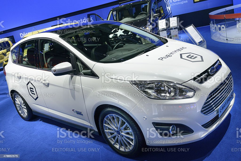 Ford C-max plug in hybrid royalty-free stock photo