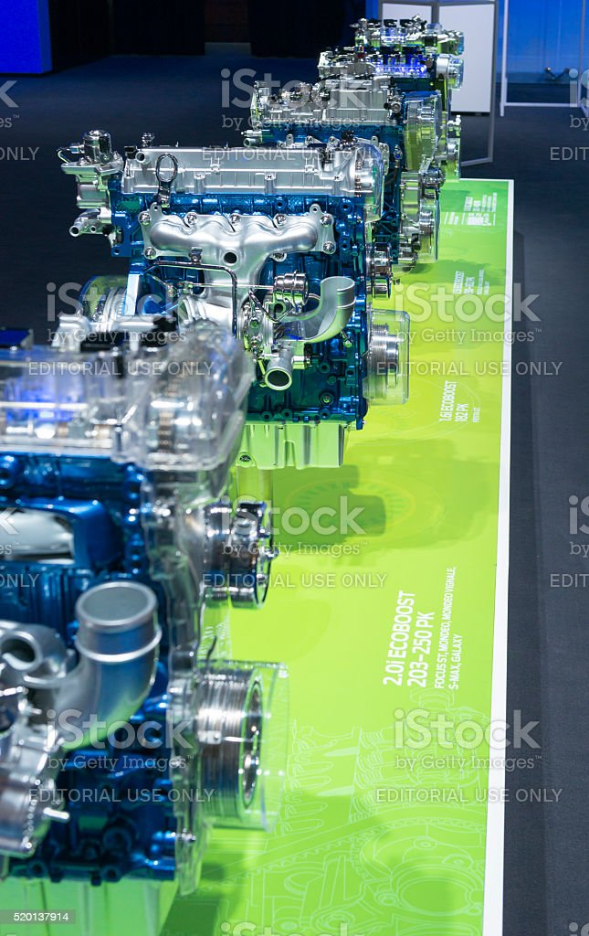 Ford Ecoboost engines stock photo