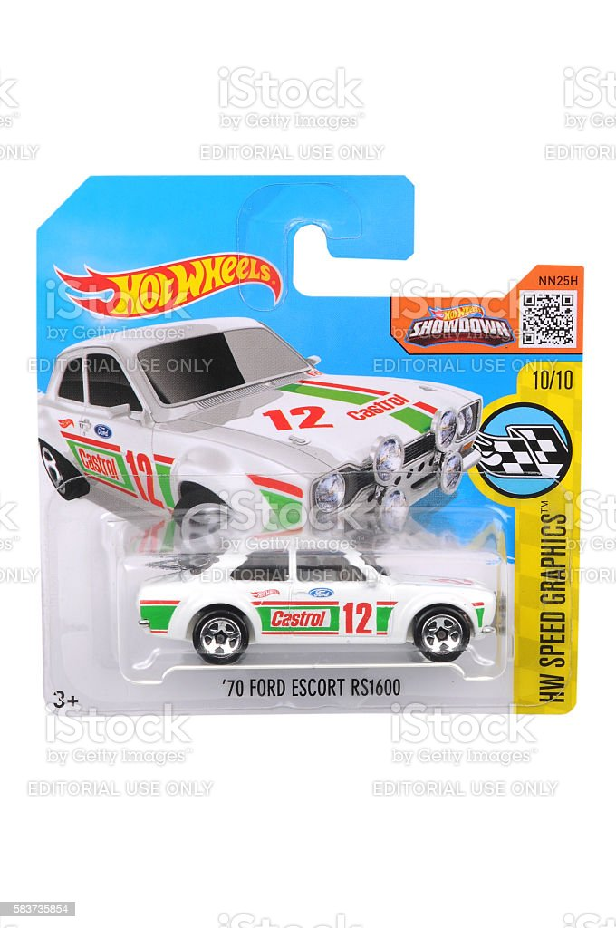 1970 Ford Escort RS1600 Hot Wheels Diecast Toy Car stock photo