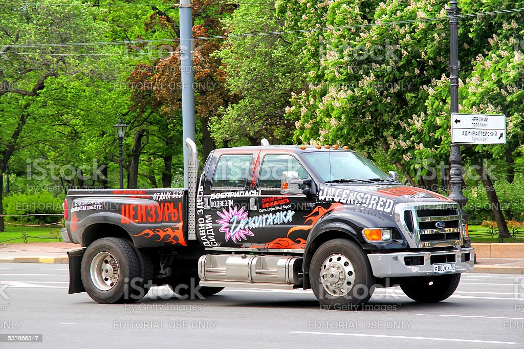 Ford F650 stock photo