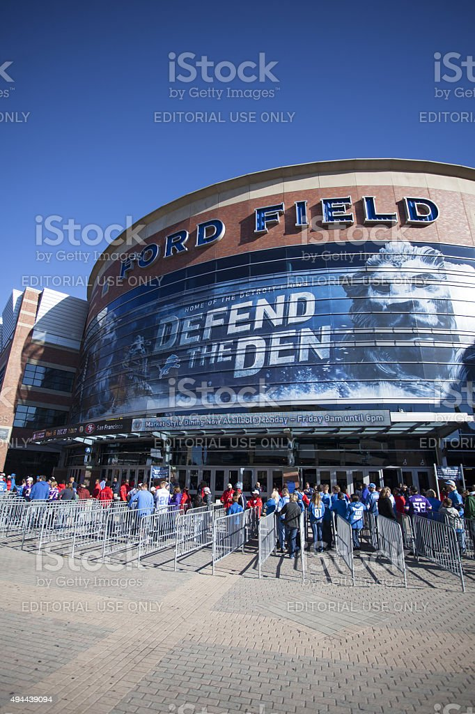 Ford Field Game Day stock photo