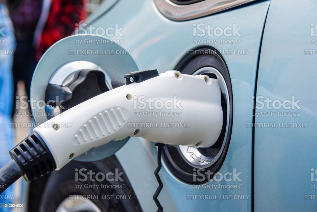 Ford Focus Electric Plug-In stock photo
