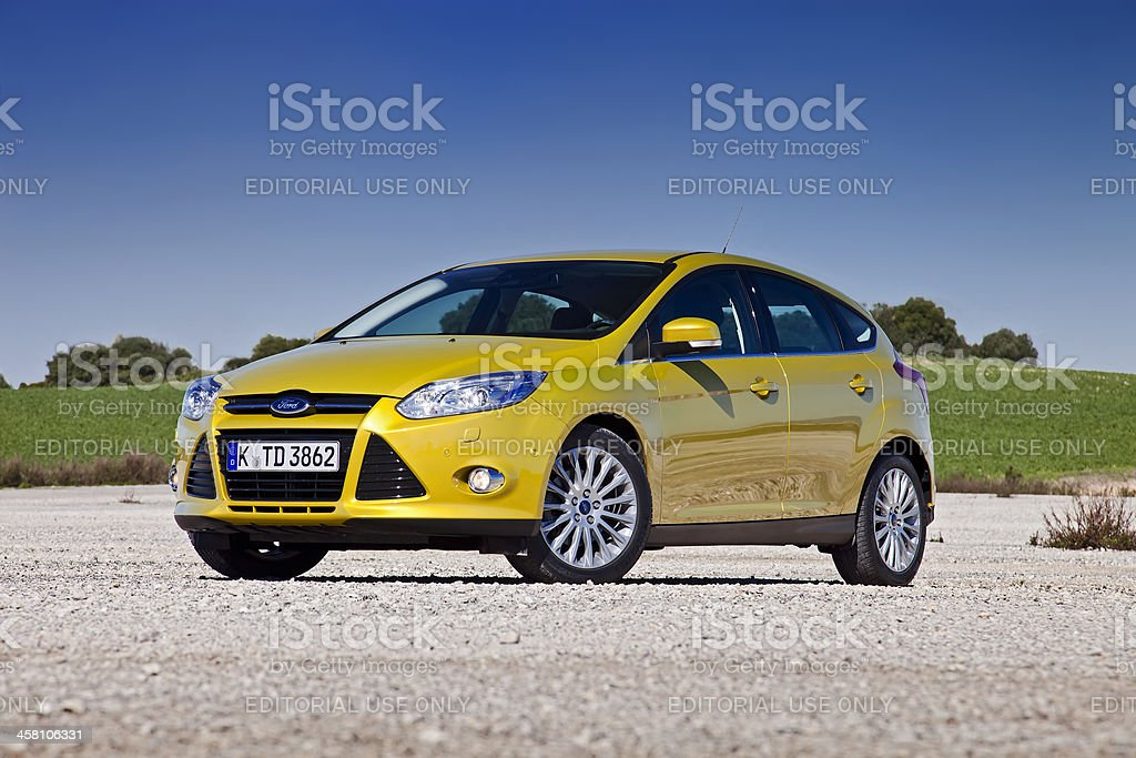 Ford Focus front stock photo