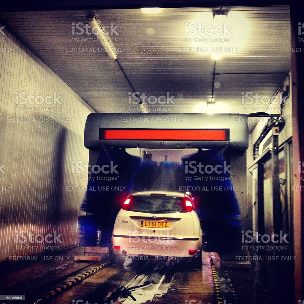 Ford Focus hatchback at a car wash. royalty-free stock photo