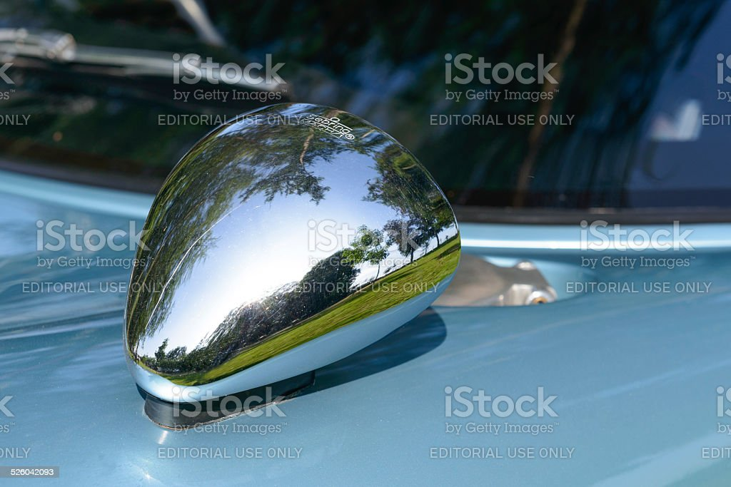 Ford GT40 classic sports car rear view mirror stock photo