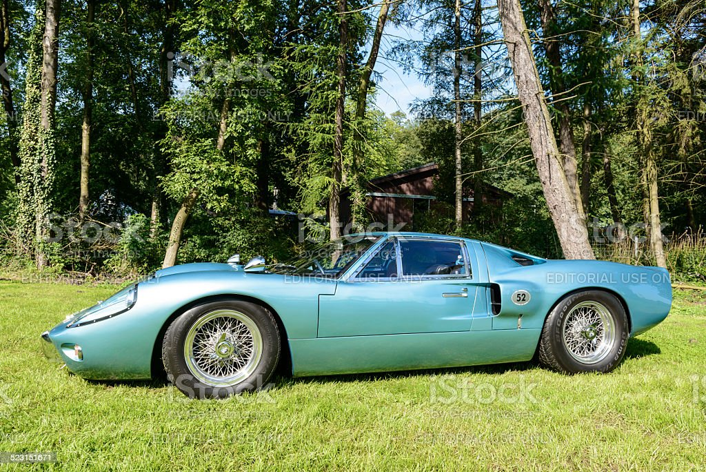 Ford GT40 classic sports car side view stock photo