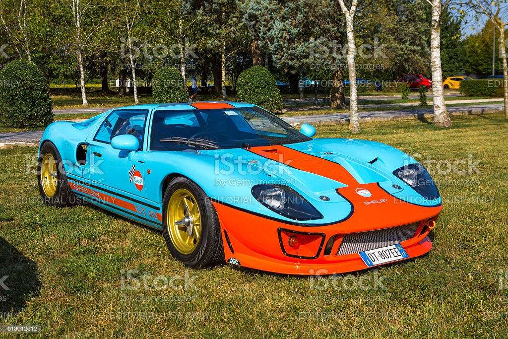 Ford GT40 Gulf at meeting Top Selection 2016 stock photo