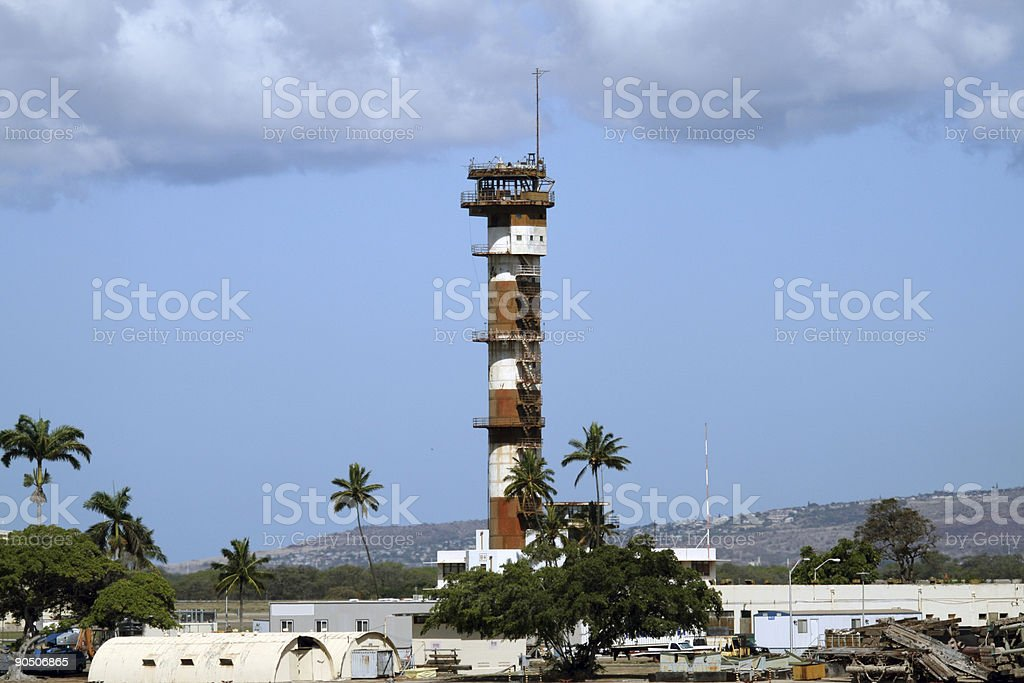 Ford Island Tower stock photo