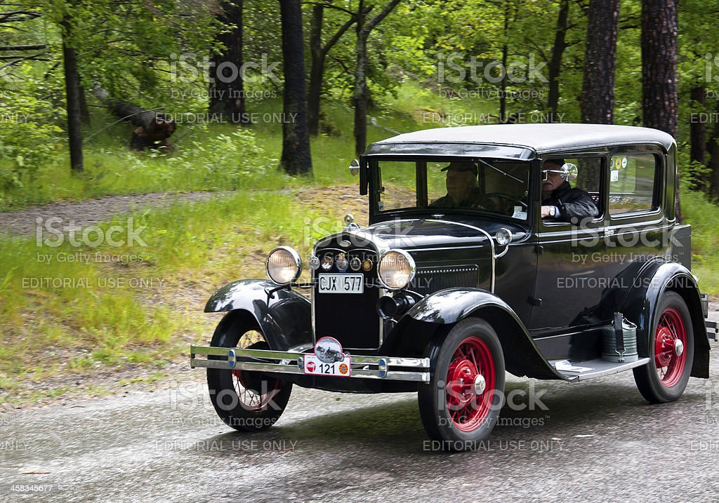 Ford model A Tudor from1930 royalty-free stock photo