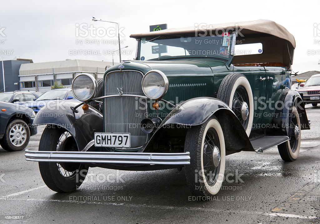 Ford model B V8 from 1932 stock photo