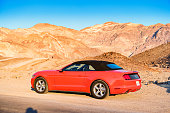 Ford Mustang Convertible in Death Valley National Park California