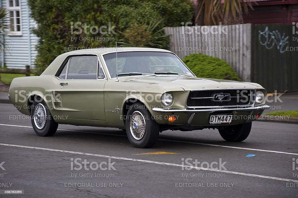 Ford Mustang from 1967 royalty-free stock photo