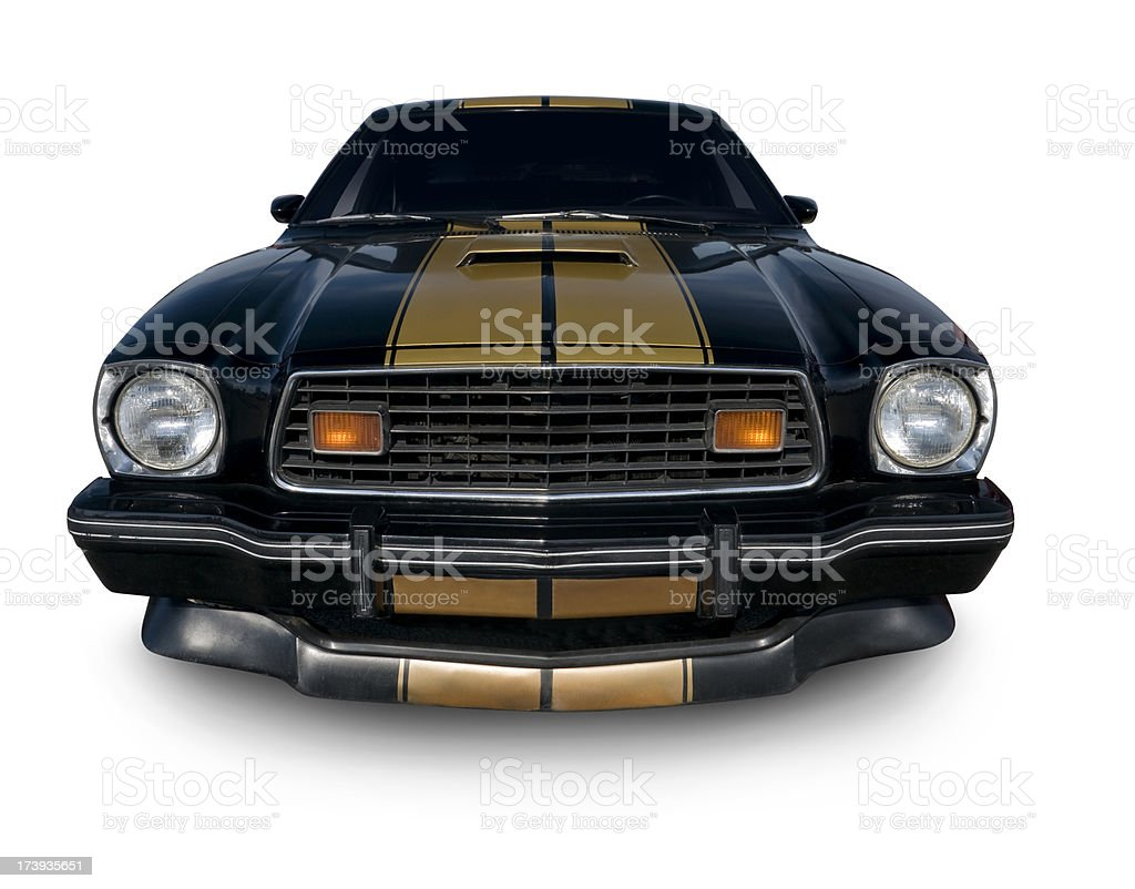 Ford Mustang from late 1970's stock photo