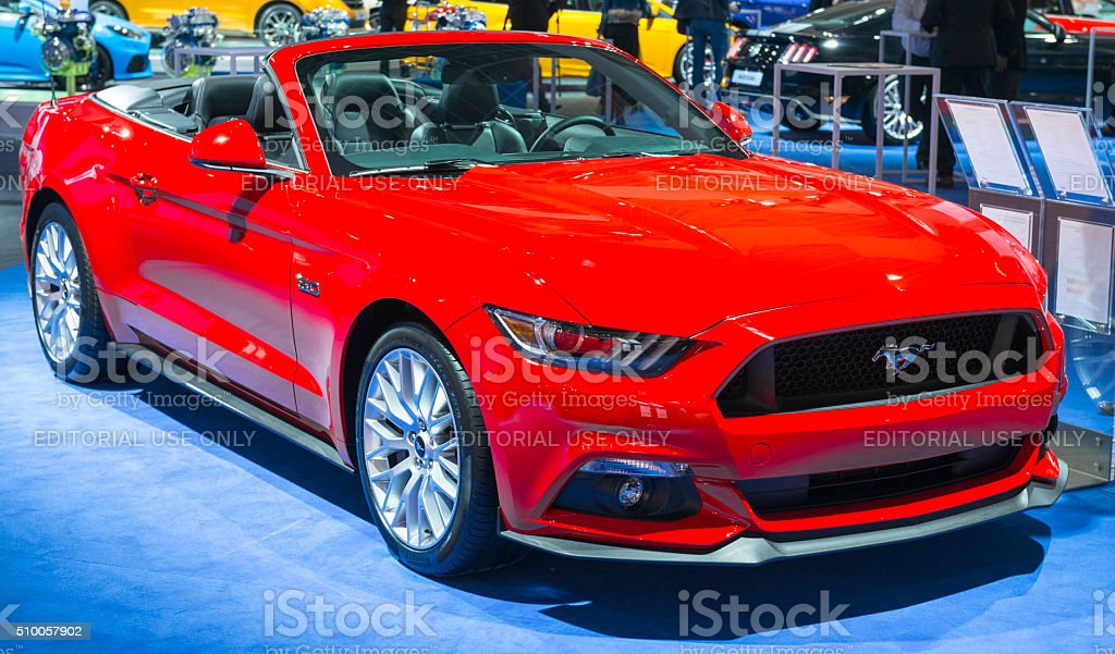 Ford Mustang GT Premium Convertible Muscle Car stock photo