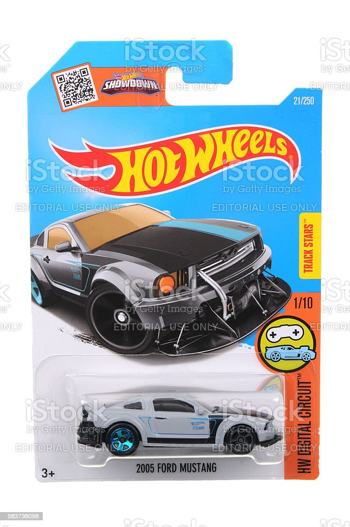 2005 Ford Mustang Hot Wheels Diecast Toy Car stock photo
