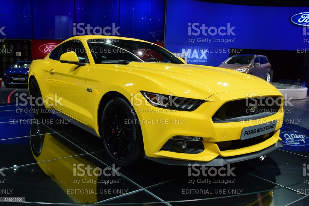 Ford Mustang on the motor show stock photo
