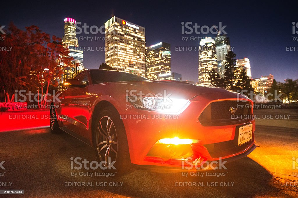 Ford Mustang on the Valley of Fire stock photo