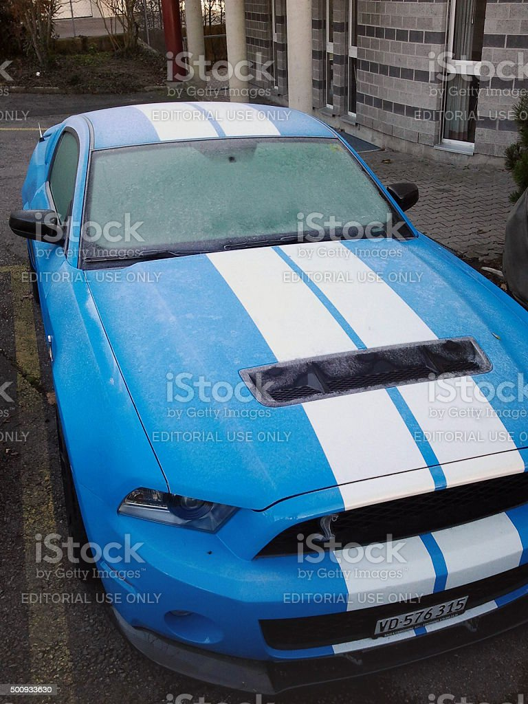 Ford Mustang Shelby GT 500 stock photo