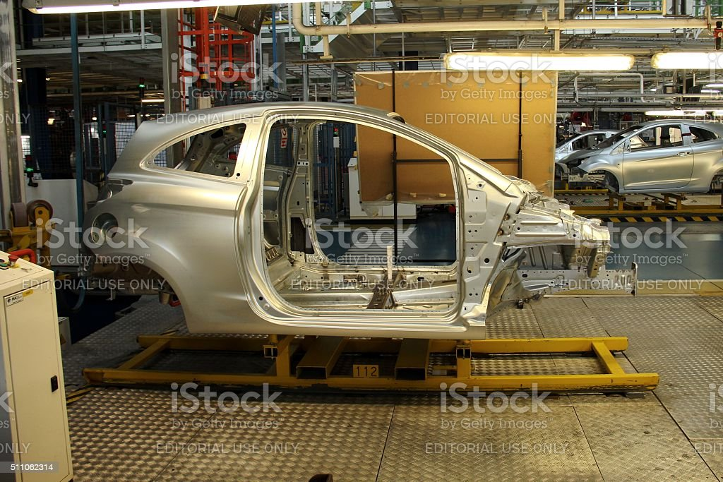 Ford on the production line stock photo