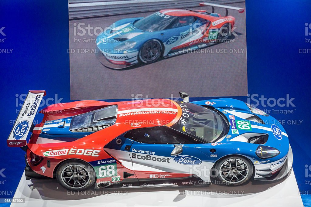 Ford Race Car with EcoBoost stock photo