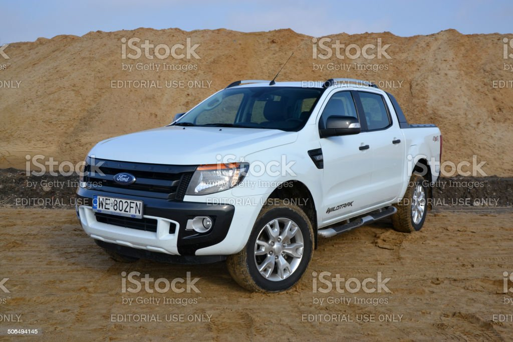 Ford Ranger Wildtrack at the offroad stock photo