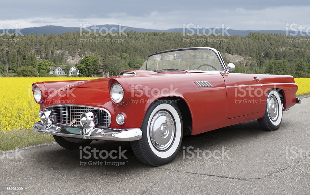 Ford Thunderbird 1956. stock photo