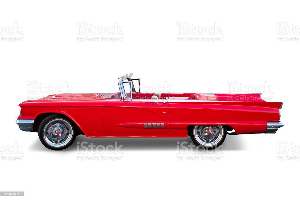 Ford Thunderbird convertible red stock photo
