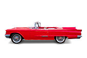 Ford Thunderbird convertible red