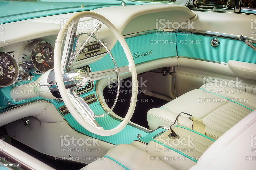 1962 Ford Thunderbird Interior stock photo