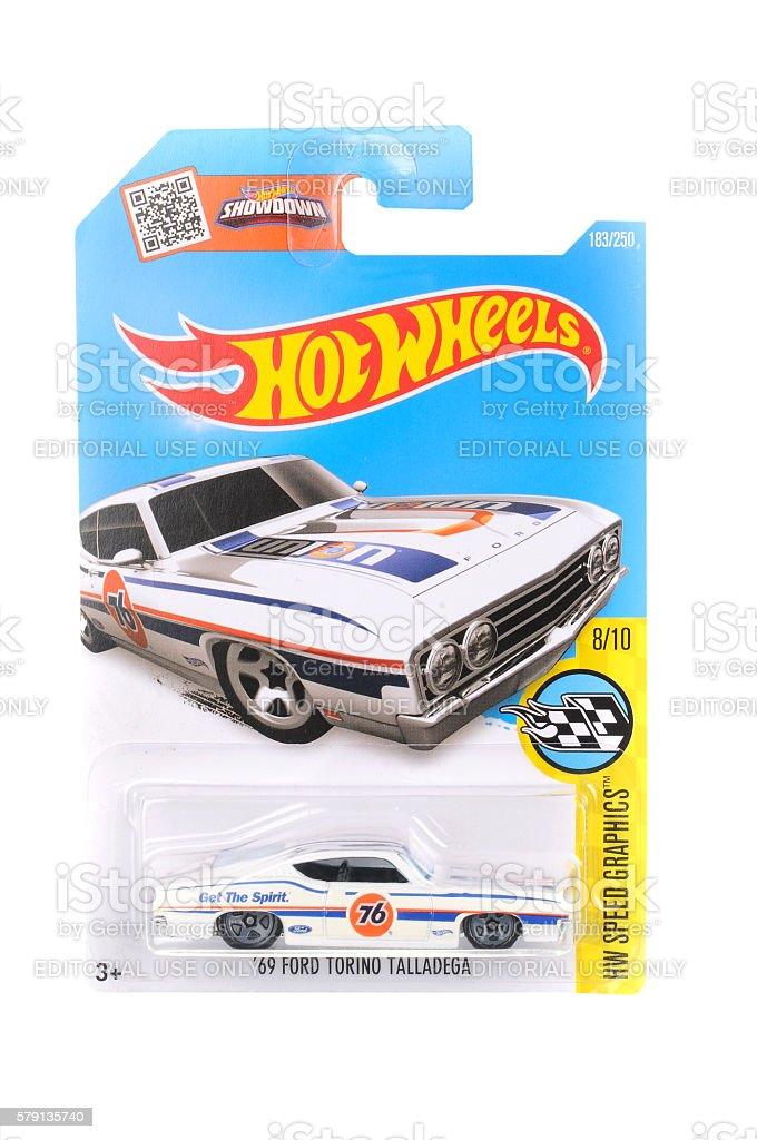 1969 Ford Torino Talladega Hot Wheels Diecast Toy Vehicle stock photo