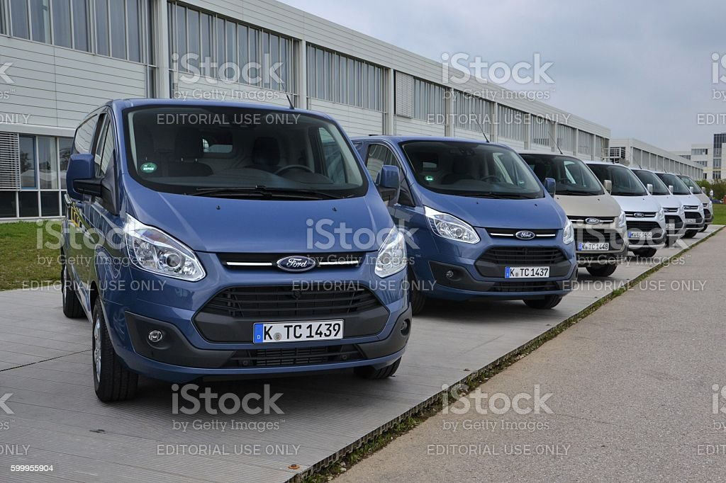 Ford Transit Custom on the parking stock photo