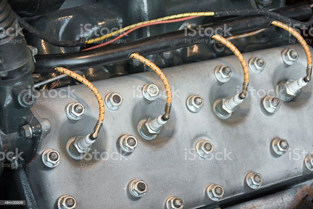 Ford V8 Motor Restored stock photo