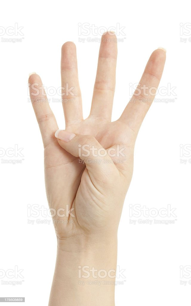 fore fingers of from a woman hand stock photo