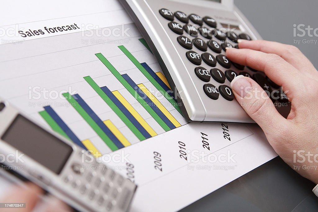 Forecast calculation royalty-free stock photo