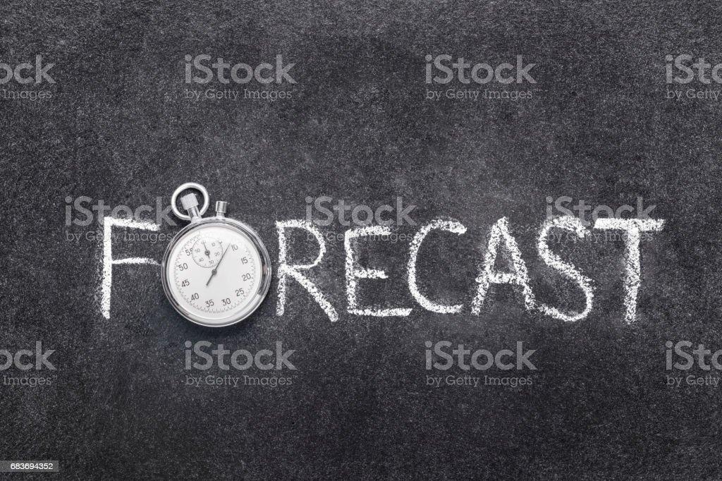 forecast word watch stock photo