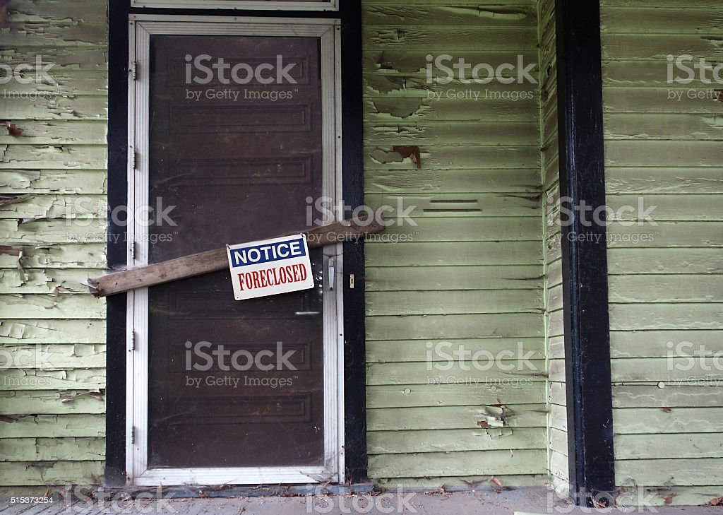 Foreclosed house stock photo