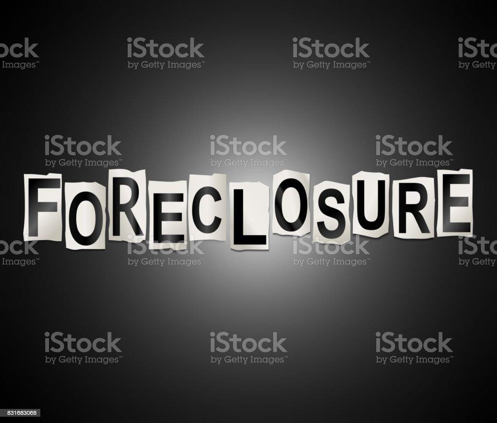 Foreclosure concept. stock photo
