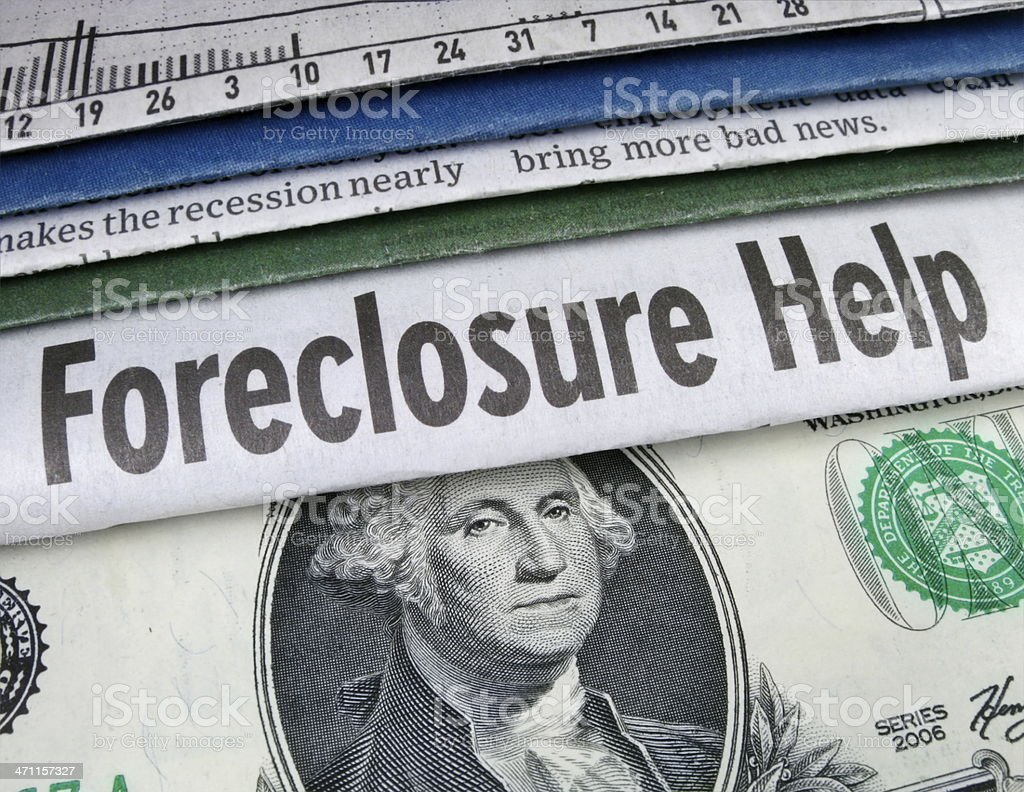 Foreclosure Help Headline stock photo