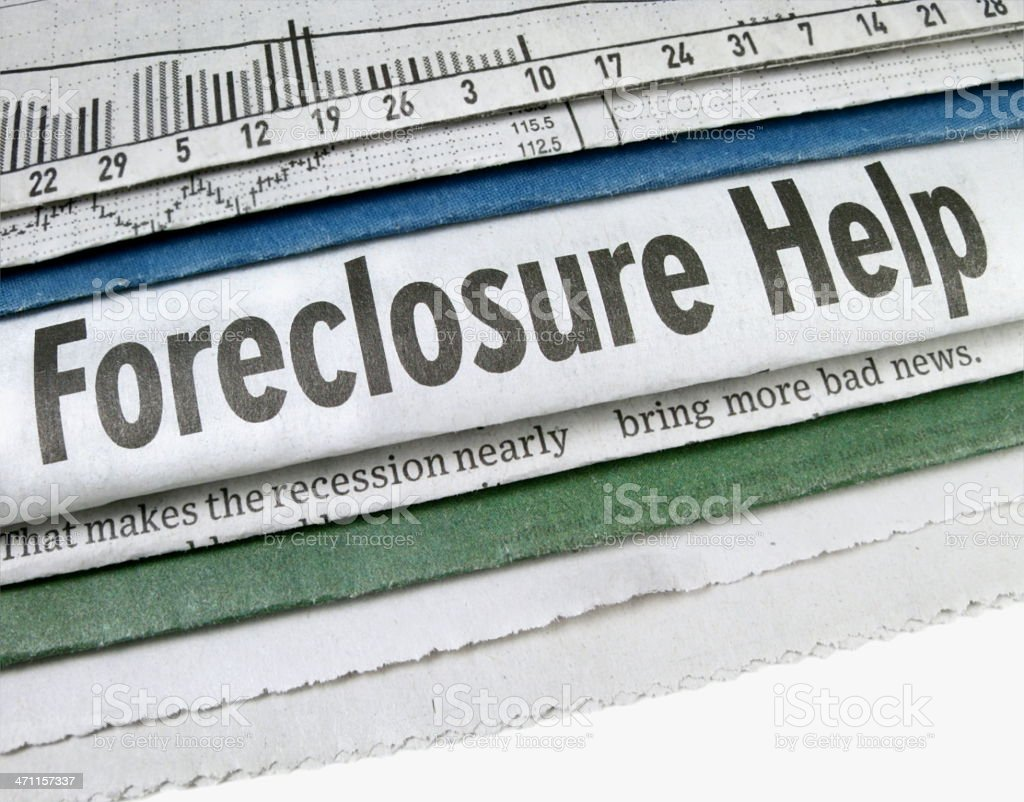 Foreclosure Help royalty-free stock photo