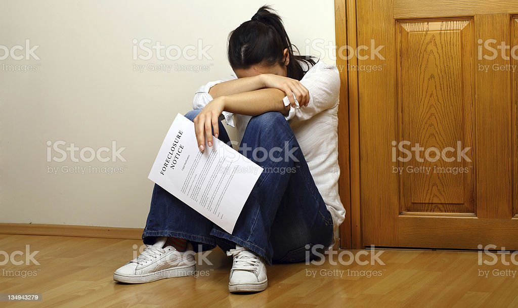 Foreclosure notice stock photo