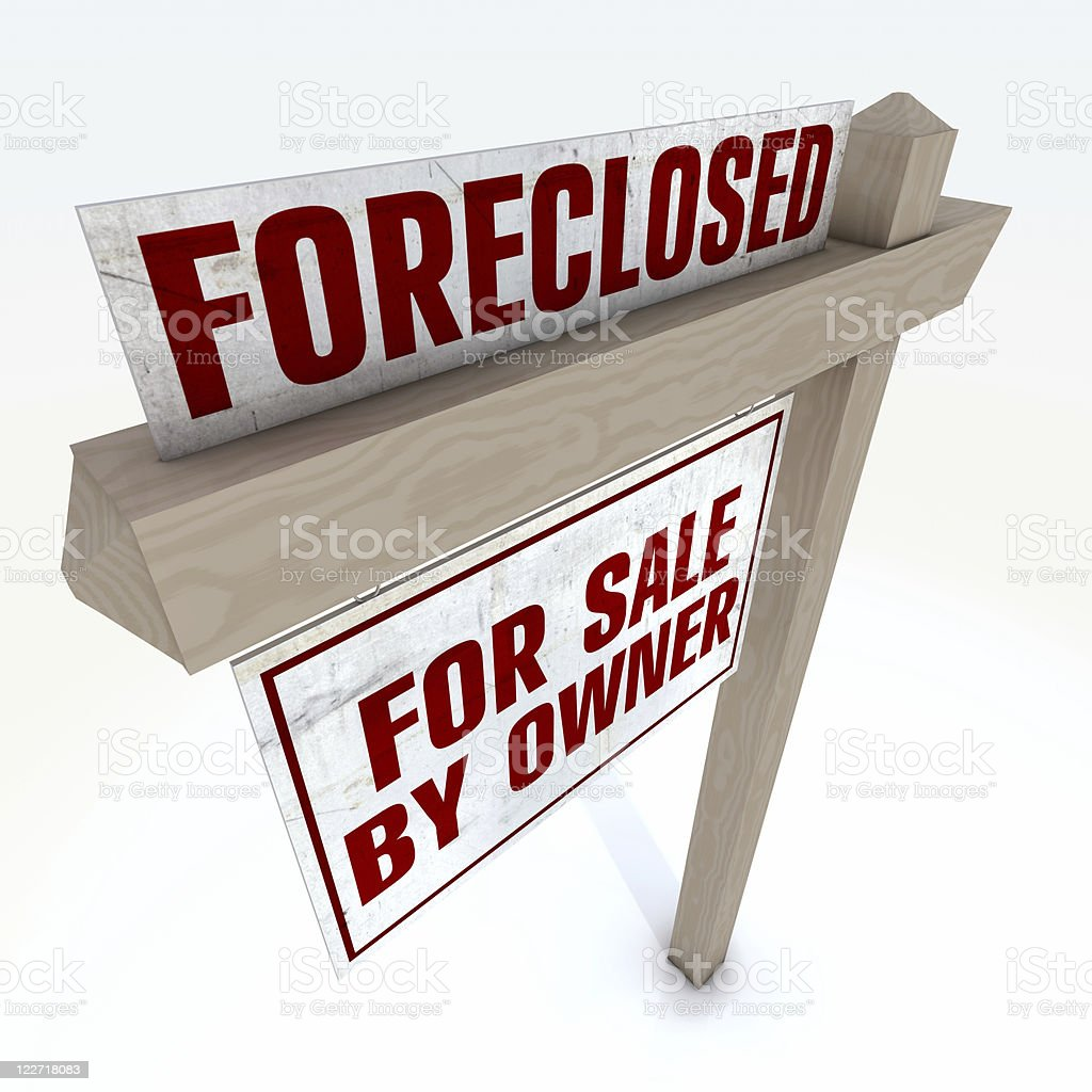 Foreclosure Real Estate Sign royalty-free stock photo
