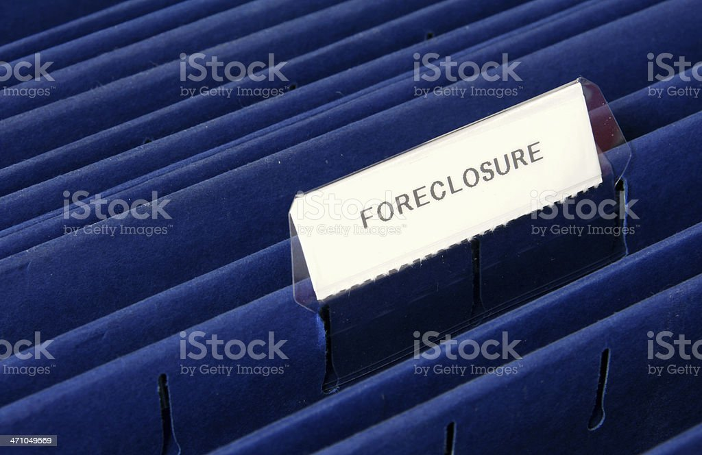 Foreclosure Tab on a File Folder royalty-free stock photo