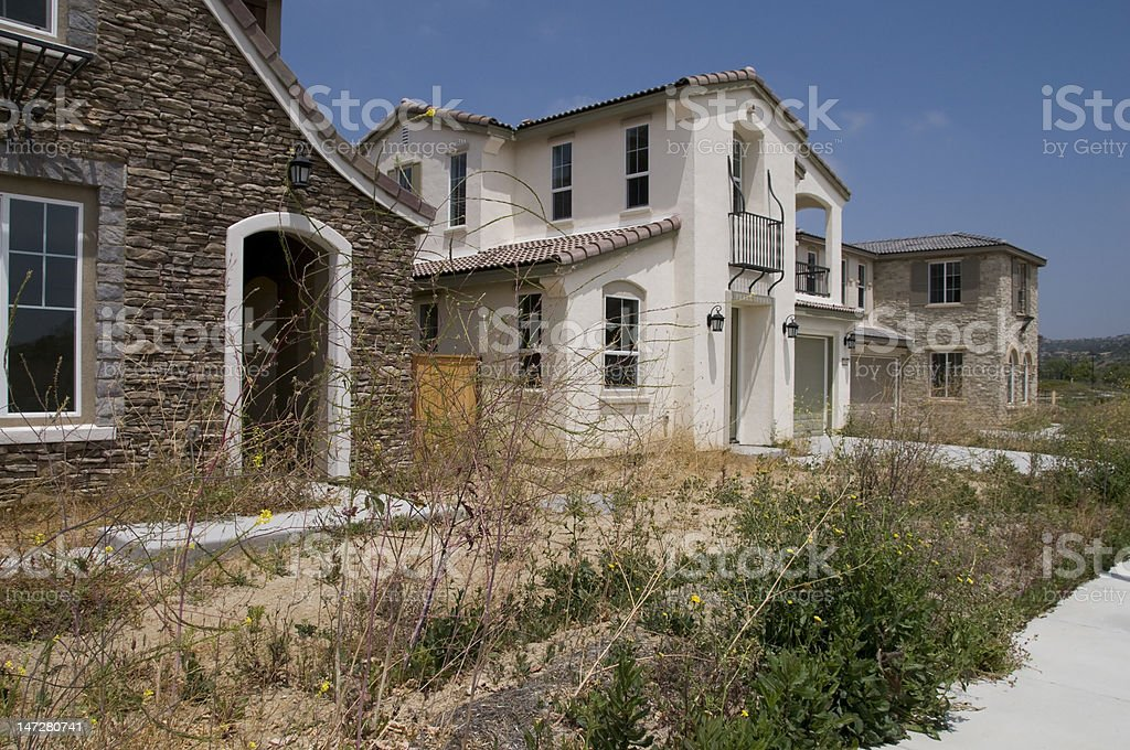 Foreclosure Waste Land stock photo