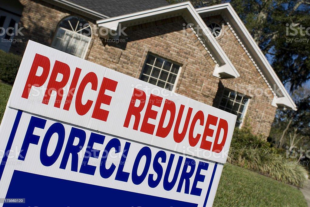 Foreclosure Yard Sign royalty-free stock photo