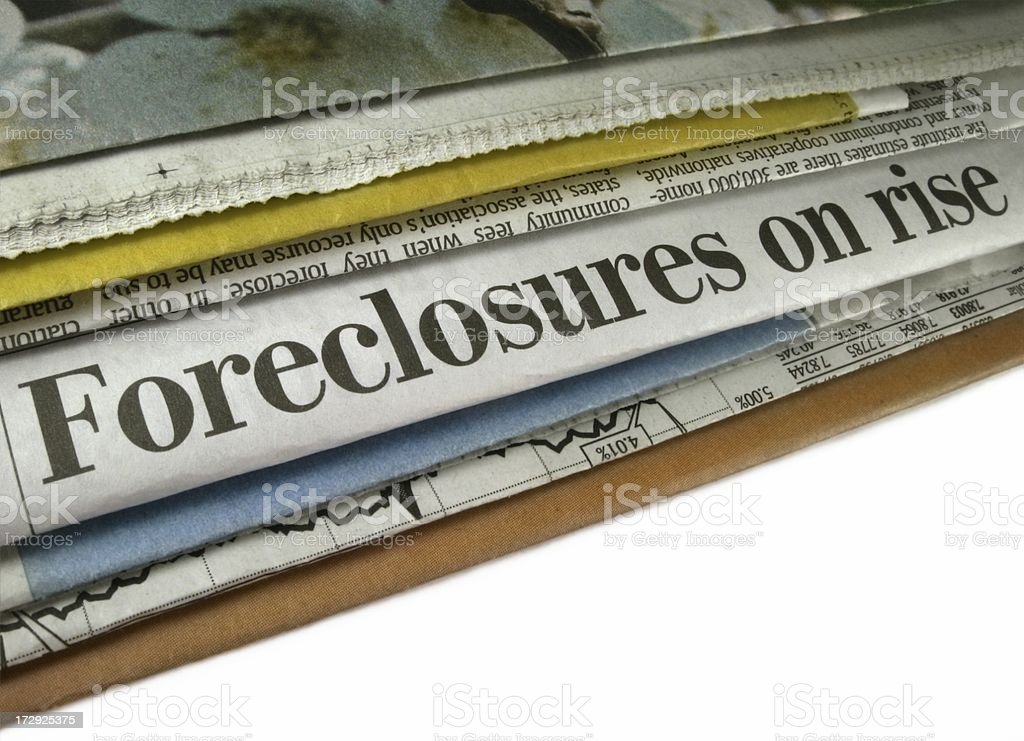 Foreclosures on Rise royalty-free stock photo